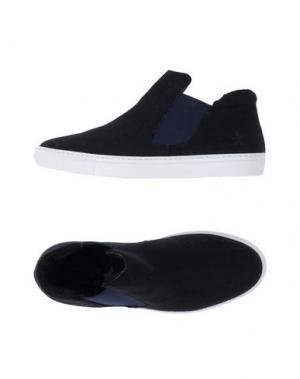 Высокие кеды и кроссовки THE EDITOR. Цвет: темно-синий