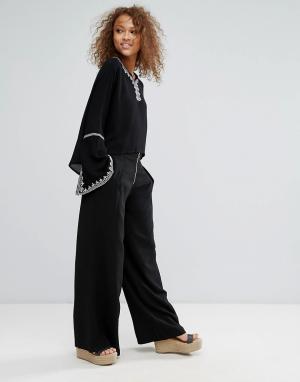 Oeuvre Широкие брюки. Цвет: черный