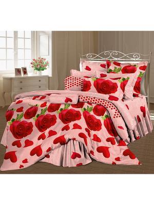 Постельное белье Romantic Collection. Цвет: красный, розовый