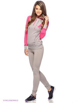 Спортивный костюм ADDIC. Цвет: серый, розовый