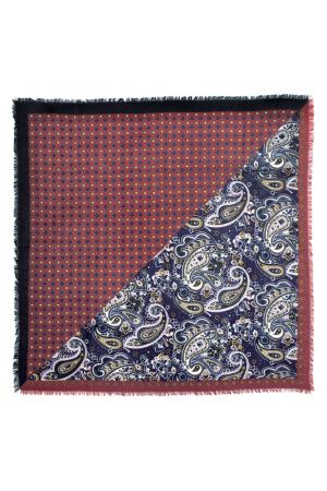 Платок Слияние узоров Le Motif Couture. Цвет: бордовый