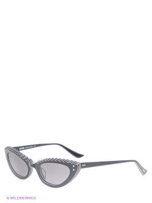 Солнцезащитные очки MO 695 01 MOSCHINO. Цвет: черный