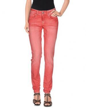 Джинсовые брюки TAKE-TWO. Цвет: пастельно-розовый