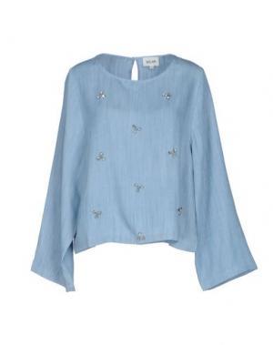Джинсовая рубашка BELAIR. Цвет: синий