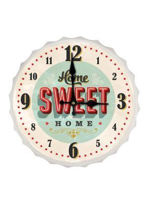 Часы настенные Home Sweet Hom Contento. Цвет: голубой, светло-бежевый