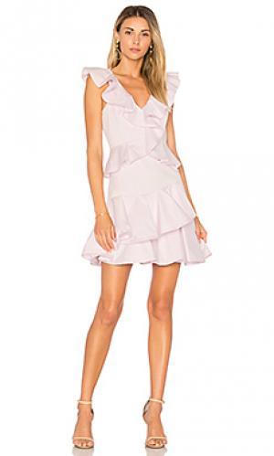 Платье ruffle Rebecca Taylor. Цвет: бледно-лиловый