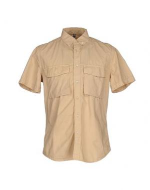 Pубашка DONDUP. Цвет: бежевый