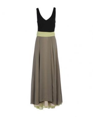 Длинное платье MICHAEL DASS. Цвет: зеленый-милитари