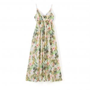 Платье длинное с цветочным рисунком MOLLY BRACKEN. Цвет: рисунок цветочный/фон экрю