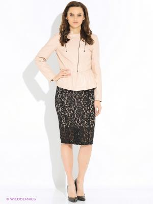 Куртка Sisley. Цвет: бледно-розовый, персиковый, кремовый