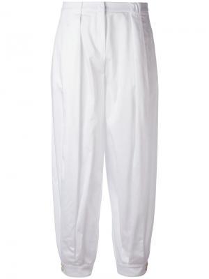 Зауженные брюки Jil Sander Navy. Цвет: белый