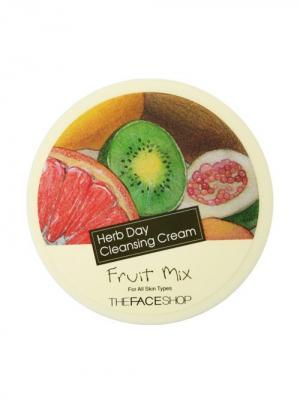 Очищающий крем для лица фруктовый микс HERB DAY, 150мл The Face Shop. Цвет: белый