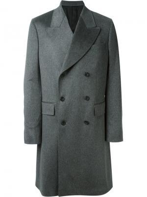 Двубортное пальто E. Tautz. Цвет: серый