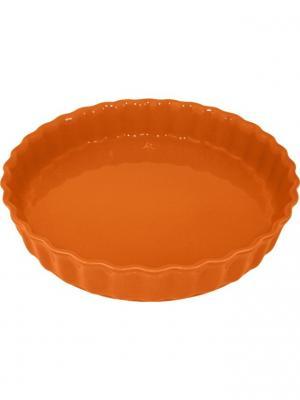Блюдо для пирога 28х28х5 см Appolia. Цвет: оранжевый