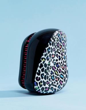 Tangle Teezer Компактная щетка для волос с леопардовым принтом. Цвет: мульти