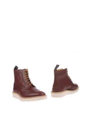 Полусапоги и высокие ботинки TRICKER'S. Цвет: красно-коричневый