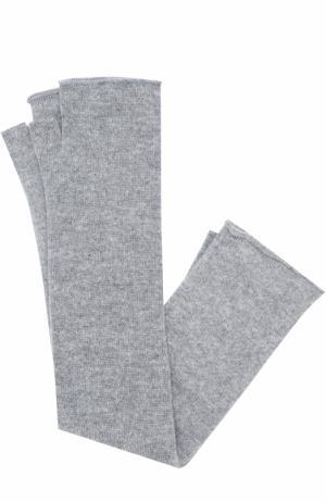 Однотонные кашемировые митенки Tegin. Цвет: серый