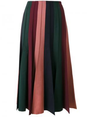 Плиссированная юбка миди Gabriela Hearst. Цвет: многоцветный
