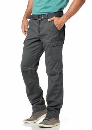 Комплект: брюки карго + ремень MANS WORLD MAN'S. Цвет: серый, черный