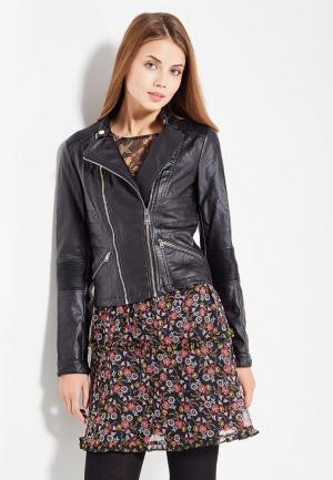 Куртка кожаная Motivi. Цвет: черный