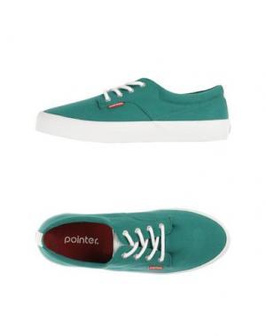 Низкие кеды и кроссовки POINTER. Цвет: зеленый