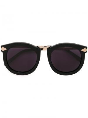 Солнцезащитные очки Super Lunar Karen Walker Eyewear. Цвет: чёрный