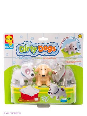 Набор игровой для ванны Вымой щенка Alex. Цвет: салатовый