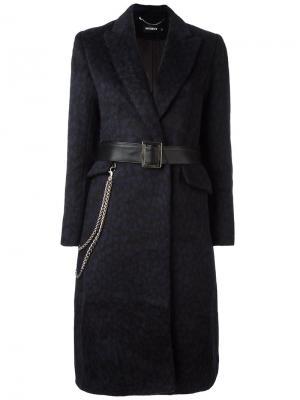 Пальто с поясом Misbhv. Цвет: синий