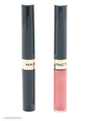 Стойкая губная помада и увлажняющий блеск Lipfinity, 144 тон MAX FACTOR. Цвет: розовый
