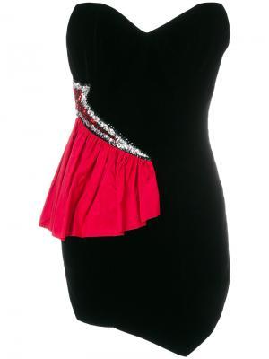 Короткое платье-бюстье Lady Gaga Alexandre Vauthier. Цвет: чёрный