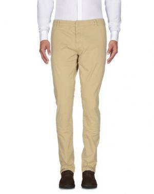 Повседневные брюки QU4TTRO. Цвет: бежевый