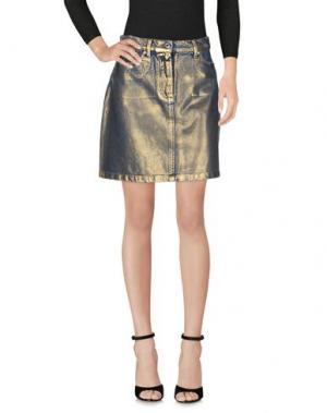 Джинсовая юбка MSGM. Цвет: золотистый