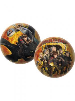 Мяч Драконы 23 см Unice. Цвет: желтый, черный