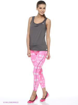 Комплект: брюки, топ Freddy. Цвет: розовый, черный, серый