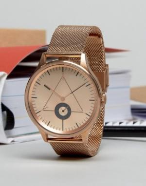 Cronometrics Розово-золотистые часы с сетчатым браслетом. Цвет: золотой