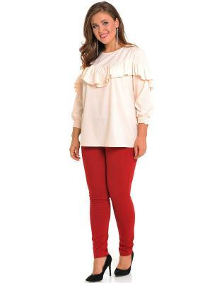 Блузка SVESTA. Цвет: кремовый