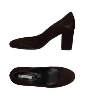 Туфли TIFFI. Цвет: темно-коричневый