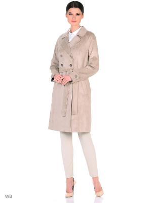 Пальто Socrat. Цвет: серебристый