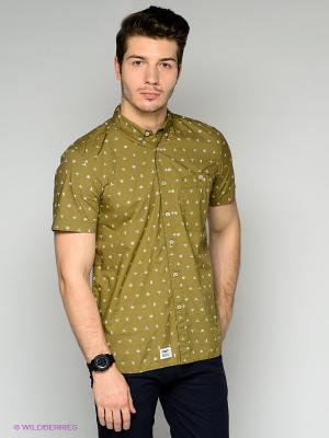 Рубашка Addict. Цвет: оливковый