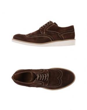 Обувь на шнурках SIMONE MARIOTTI. Цвет: темно-коричневый