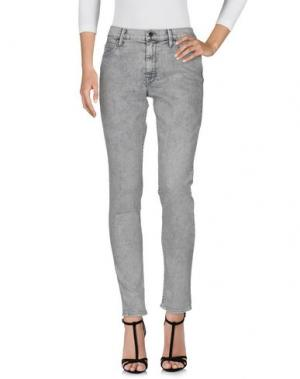 Джинсовые брюки MOTHER. Цвет: светло-серый