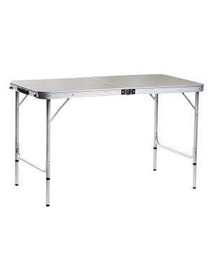 Стол складной 120х60х70 см (АЛЮМИНИЙ) GreenGlade. Цвет: серый