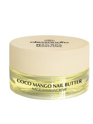 Питательный крем для ногтей с маслом манго и кокоса Coco mango Nail Butter alessandro. Цвет: светло-желтый