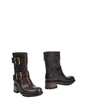Полусапоги и высокие ботинки FREE LANCE. Цвет: темно-коричневый