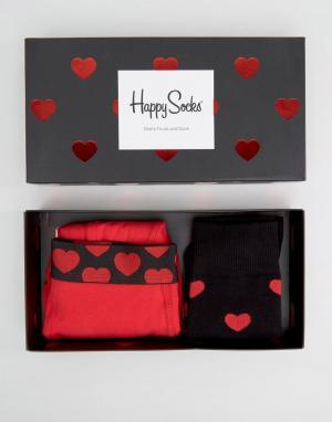 Happy Socks Подарочный набор с боксерами-брифами и носками (2 шт.) Val. Цвет: мульти