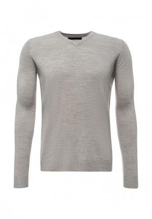 Пуловер Piazza Italia. Цвет: серый