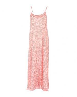 Длинное платье LA FEE MARABOUTEE. Цвет: красный