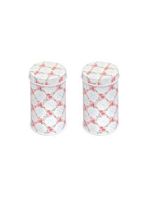 Баночка под зубочистки Гирлянда из роз, 2 шт Elan Gallery. Цвет: белый, голубой, розовый