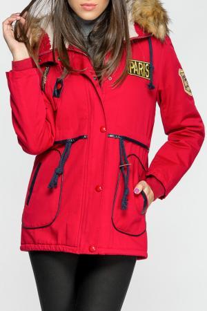 Куртка Joins. Цвет: красный