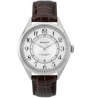 Часы с кожаным ремешком выделкой под рептилию Gant